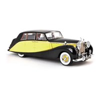 Rolls Royce Silver Wraith Empress by Hooper 1956 - Black / Yellow 1:18