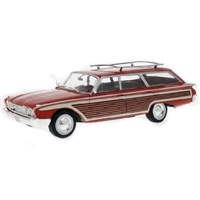 Ford Country Squire 1960 - Red/Wood 1:18