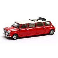 Matrix Mini Cooper Limousine 1990 - Red/White 1:43