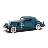 Matrix Duesenberg J-519 2548 D'Ieteren 1935 Roof Up - Blue 1:43