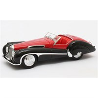 Matrix Jaguar SS100 Roadster Vanden Plas - Red/Black 1:43