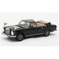 Matrix Mercedes 300 SEL Landaulette Vatican City 1967 Open - Black 1:43