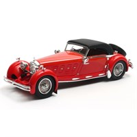 Matrix Mercedes 680S Armbruster Cabriolet Closed 1929 - Red 1:43