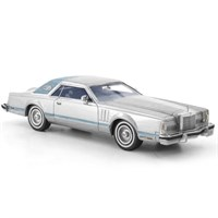 Neo Lincoln Continental Mk.V 1978 - Silver/Matt Blue 1:43