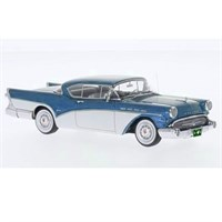 Neo Buick Roadmaster Hardtop - Metallic Blue/White 1:43