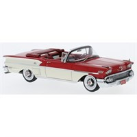 Neo Chevrolet Belair Impala Convertible 1958 - Red/White 1:43