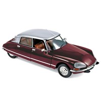 Norev Citroen DS23 Pallas 1972 - Grenade Red/Grey Metallic 1:18
