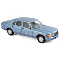 Mercedes 560 SEL 1990 - Pearl Blue Metallic 1:18