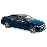 Norev Mercedes S-Class AMG-Line 2018 - Blue Metallic 1:18