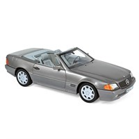 Norev Mercedes 500 SL 1989 - Grey Metallic 1:18