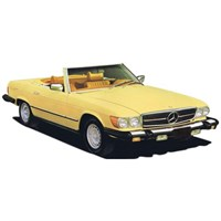Norev Mercedes 300 SL America Version 1979 - Yellow 1:18