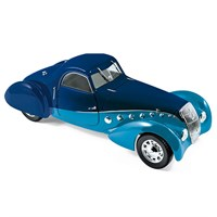 Norev Peugeot 302 Darl Mat Coupe 1937 - Dark/Clear Blue 1:18