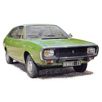 Norev Renault 15 TL 1973 - Light Green Metallic 1:18