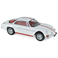 Alpine Renault A110 1600S 1971 - White With Red Stripes 1:18