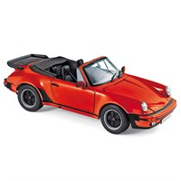 Norev Porsche 911 Turbo Cabriolet 1987 - Red 1:18