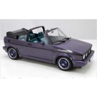 Norev Volkswagen Golf Cabriolet 'Coast' 1991 - Purple Metallic 1:18
