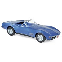 Norev Chevrolet Corvette Convertible 1969 - Blue Metallic 1:18
