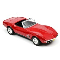 Norev Chevrolet Corvette Convertible 1969 - Red 1:18