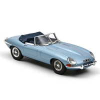 Norev Jaguar E-Type Cabriolet 1961 - Blue Metallic 1:43