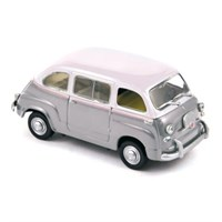 Norev Fiat 600 Multipla 1956 - Grey/White 1:43