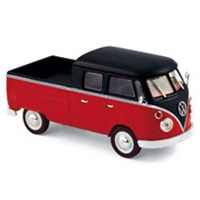 Norev Volkswagen T1 Double Cabin 1961 - Red/Black 1:43