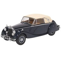 Oxford Jaguar MkV Closed - Blue/Ta 1:43