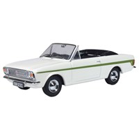 Oxford Ford Cortina Mk.II Crayford Convertible - Ermine White/Green 1:43