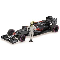 McLaren MP4/31 w. Figure  - 2016 Abu Dhabi Grand Prix - #22 J. Button 1:43