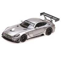 Minichamps Mercedes AMG GT3 2017 - Plain Body Version - Matt Silver 1:43