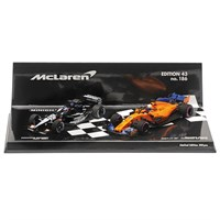Minichamps Minardi PS01 2001 & McLaren MCL33 2018 - F. Alonso 300 GPs - Two Car Set 1:43