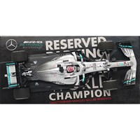 Minichamps Mercedes F1 W10 - 2019 American Grand Prix World Champion - #44 L. Hamilton 1:43