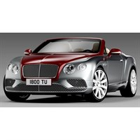 Paragon Bentley Continental GT Convertible RHD 2016 - Red and Silver 1:18