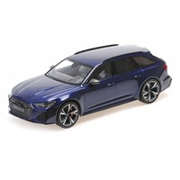Minichamps Audi RS6 Avant 2019 - Blue Metallic 1:18