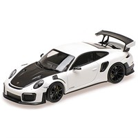 Minichamps Porsche 911 GT2 RS 2018 - White W. Black Wheels 1:18