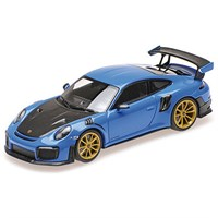 Minichamps Porsche 911 GT2 RS 2018 - Blue W. Gold Wheels 1:18
