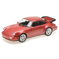 Minichamps Porsche 911 Turbo 1990 - Red Metallic 1:18