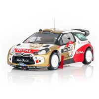 IXO Citroen DS3 WRC - 2013 Abu Dhabi World Team Presentation Car - 1:43