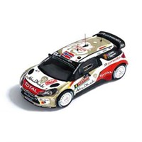 IXO Citroen DS3 WRC - 2nd 2014 Monte Carlo Rally - #4 M. Ostberg 1:43