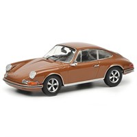 Schuco Porsche 911S 1971 - Brown 1:43