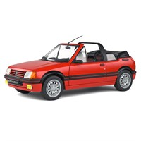 Solido Peugeot 205 CTI Mk.1 Cabriolet 1989 - Red 1:18