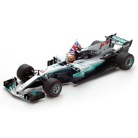 Mercedes F1 W08 w. Flag - 2017 Mexican Grand Prix World Champion - #44 L. Hamilton 1:18