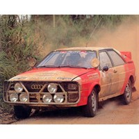 Sun Star Audi Quattro - 1982 Ivory Coast Rally - #2 M. Mouton 1:18