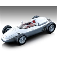 Tecnomodel Porsche 718 F2 1960 - Press Car - Silver 1:18