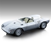 Tecnomodel Porsche 550A 1957 - Press Car - Silver 1:18