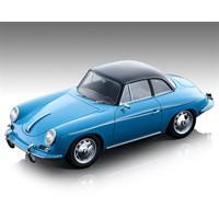 Tecnomodel Porsche 356 Karmann Hardtop 1961 - Light Blue 1:18