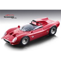 Tecnomodel Alfa Romeo 33.2 Periscopio 1967 - Press Car - Red 1:18