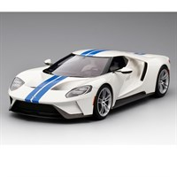 Ford GT - White and Blue Stripe 1:18