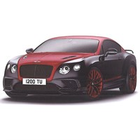 TopSpeed Bentley Continental 24 - Black Crystal/St James Red 1:18