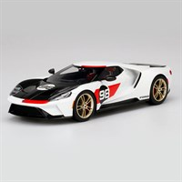 TopSpeed Ford GT - 2021 Heritage Edition - White/Black 1:18