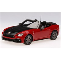TrueScale Miniatures Abarth 124 Spider - Red 1:43